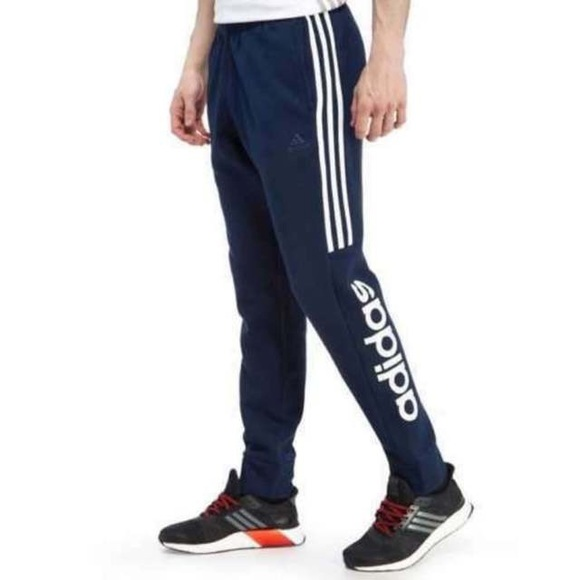 adidas fleece slim pants